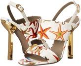 Versace Oro Bizantino Printed Open Toe Heel
