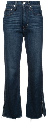 Proenza Schouler White Label PSWL High Waisted Cropped Jeans