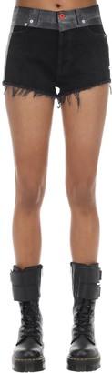 Heron Preston Tie Dyed Cotton Denim Shorts