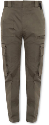 Fendi Slim-Fit Stretch-Cotton Gabardine Cargo Trousers - Men - Green