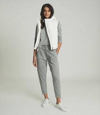 Reiss Leila - Hooded Puffer Gilet in White