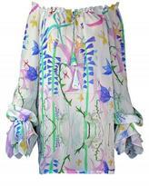Plakinger Fantasy print silk georgette mini dress
