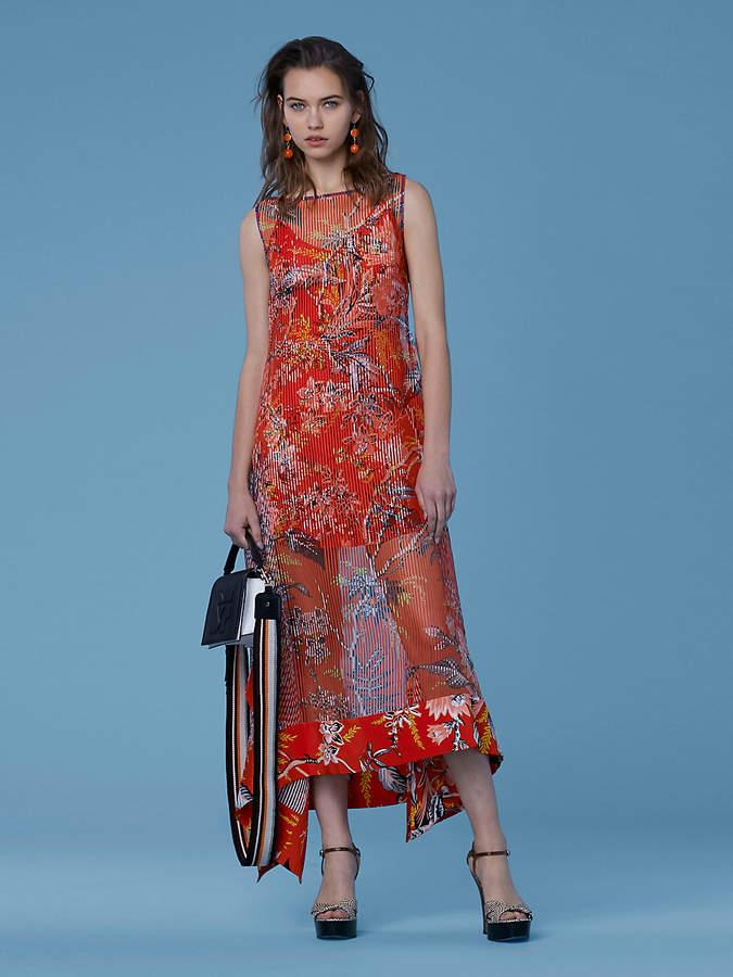 Diane von Furstenberg Boat Neck Midi Dress