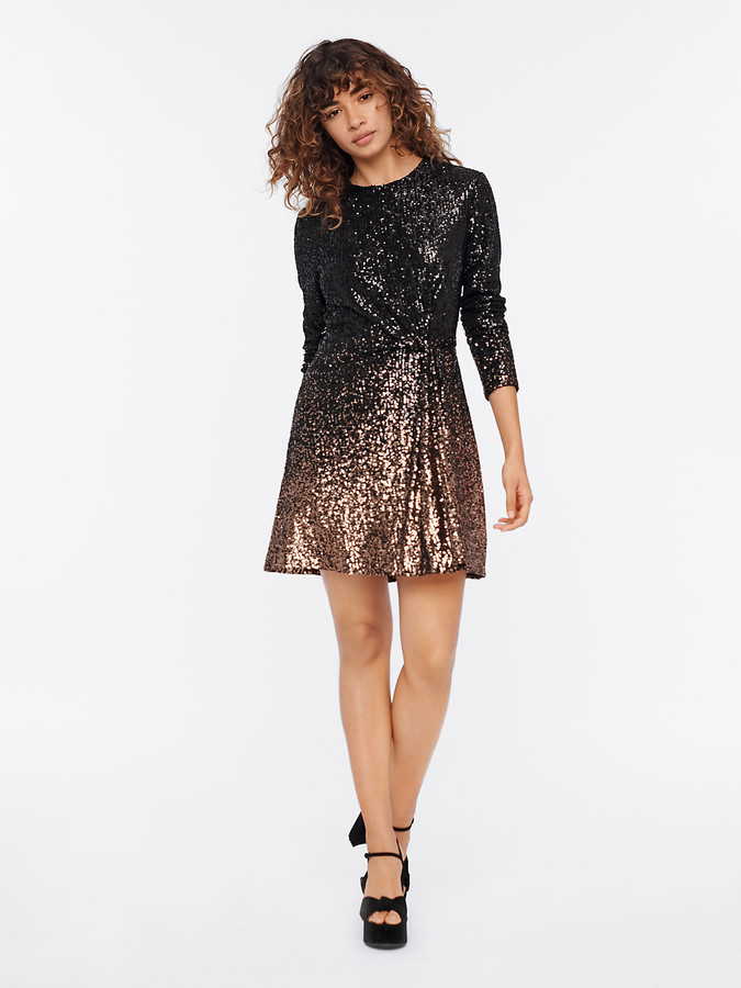 Diane von Furstenberg Savanna Sequin Mini Dress