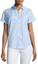 Frank And Eileen Billy Jean Striped Shirt, Blue/White Stripe