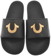 True Religion Horseshoe Flip Flops Black