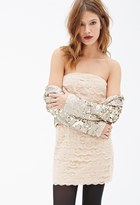 Forever 21 FOREVER 21+ Scalloped Lace Strapless Dress