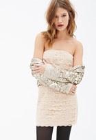 Forever 21 FOREVER 21+ Scalloped Lace Strapless Dress