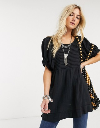 Free People elsie tunic in black
