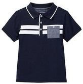 Andy & Evan Striped Polo (Toddler & Little Boys)