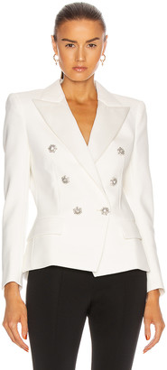 Alexandre Vauthier Compact Blazer in Off White | FWRD