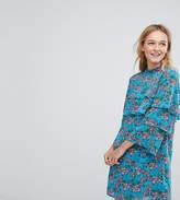 Monki Floral Ruffle Smock Dress