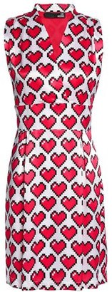 Love Moschino Printed Satin Mini Dress