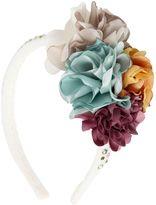 MonnaLisa Embellished Floral Velvet Headband