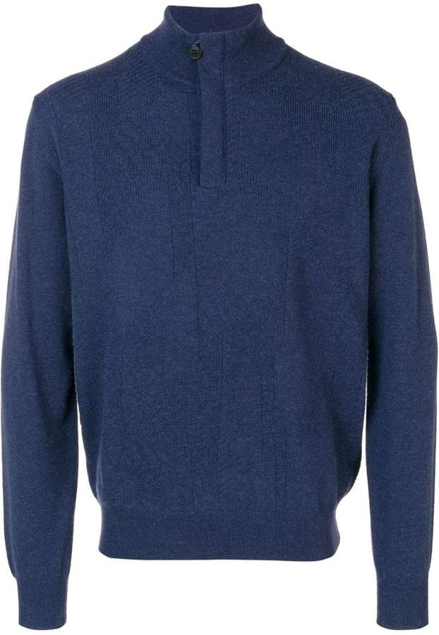 Corneliani front zip sweater
