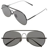 Acne Studios Women's 'Large Spitfire' 57Mm Aviator Sunglasses - Black Satin/ Black
