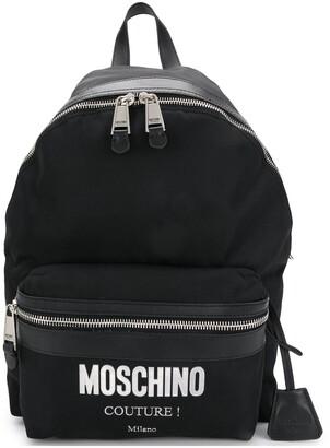 Moschino Logo Printed Backpack