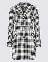 Marks and Spencer Gingham Trench Coat with StormwearTM