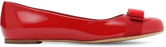 Salvatore Ferragamo 10mm Varina Patent Leather Ballerinas