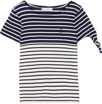 J.W.Anderson Knotted Striped Cotton-jersey T-shirt