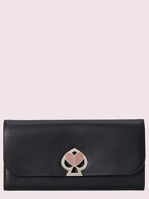 Kate Spade Nicola Twistlock Flap Continental Wallet