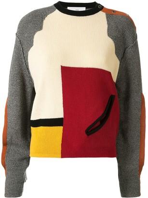 Toga Colour Block Cut-Out Detail Sweater