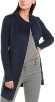 Forte Cashmere Ribbed Sleeve Wool & Cashmere-Blend Coat