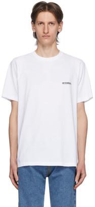 Vetements White Logo Front Back T-Shirt