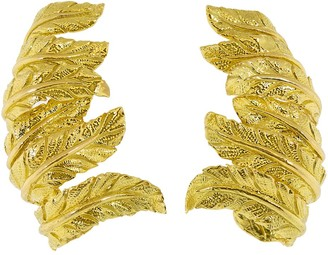 Verdura Feather Ear Cuffs