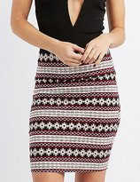 Charlotte Russe Printed Bodycon Mini Skirt