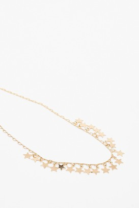 Nasty Gal Womens Wishing on a Star Necklace - Metallics - One Size