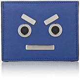 """Fendi Men's """"No Words"""" Card Case-BLUE"""