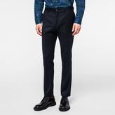Paul Smith Men's Slim-Fit Navy Wool Flannel Trousers