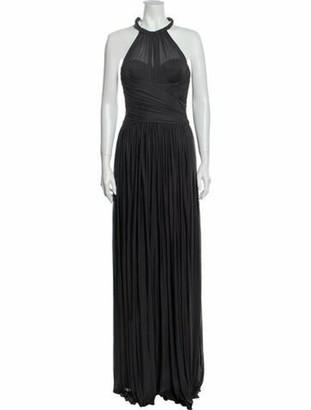 Dolce & Gabbana Silk Long Dress Grey
