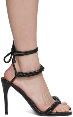 Valentino Black Garavani The Rope Heeled Sandals