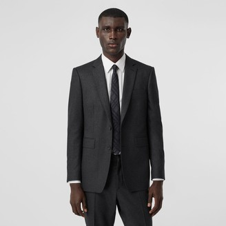 Burberry Classic Fit Wool Flannel Tailored Jacket