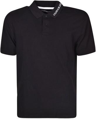 Calvin Klein Jeans Embroidered Logo Polo Shirt