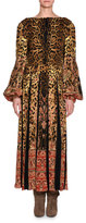 Etro Leopard & Paisley Long-Sleeve Gown