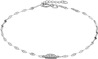 Lauren Conrad Sterling Silver Lab-Created White Sapphire Lemon Slice Bracelet