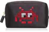 Anya Hindmarch MAKE UP POUCH SPACE INVADERS RED SATIN CIRCUS