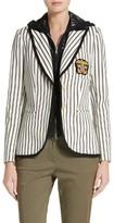 Veronica Beard Women's Spirit Stripe Cotton Blazer