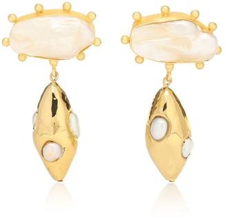 PEET DULLAERT Galena 14kt gold-plated pearl earrings