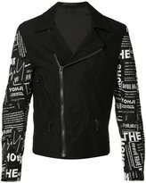 Yohji Yamamoto Rider jacket - men - Cotton/Cupro/Wool - 2