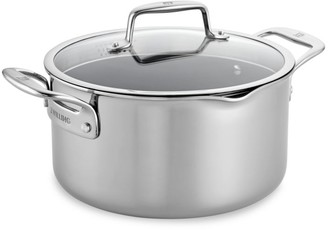 Zwilling J.A. Henckels Zwilling Clad CFX 6-Quart Stainless Steel Ceramic Nonstick Dutch Oven