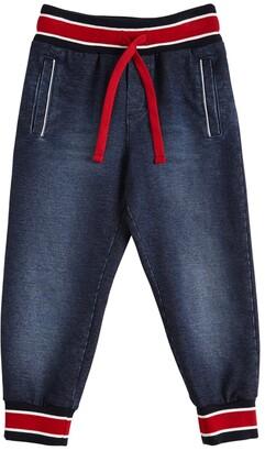 Dolce & Gabbana Cotton Denim Effect Pants