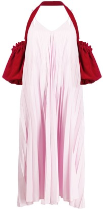 Atu Body Couture Heart Leak pleated dress
