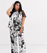 Figleaves Curve Indulgence floral print pyjama set