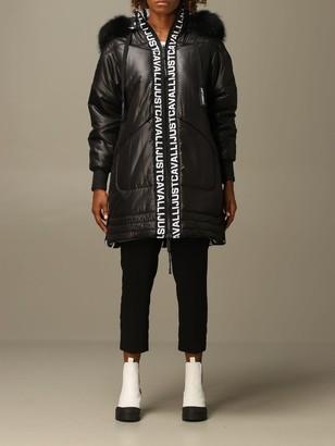 Just Cavalli Jacket Midi Down Jacket With Hood And Logo