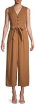 Calvin Klein Linen-Blend Belted Jumpsuit