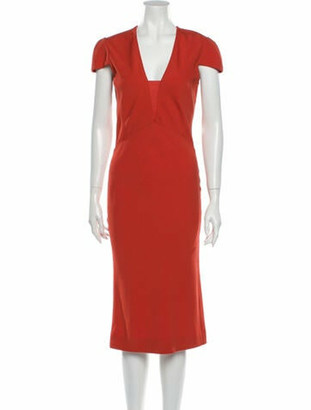 Narciso Rodriguez 2014 Midi Length Dress Orange